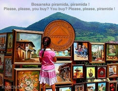 Image of Bosnian Pyramid in Visoko with girl photograph taken and created by Colette Dowell