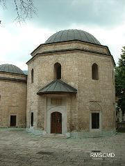 Image of ancient Muslim Mosque in old town Sarajevo photograph by Colette Dowell