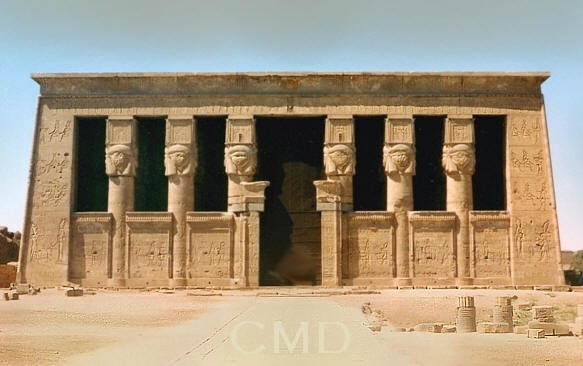 Dendera Temple of Hathor Egypt image ancient Egyptian timeline