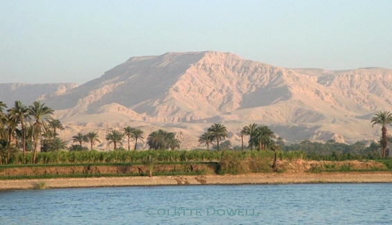 Image of Nile River Egypt near Luxor photograph by Colette Dowell