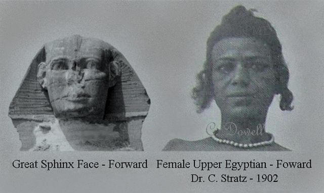 Image of Sphinx face with Upper Egyptian Female Face